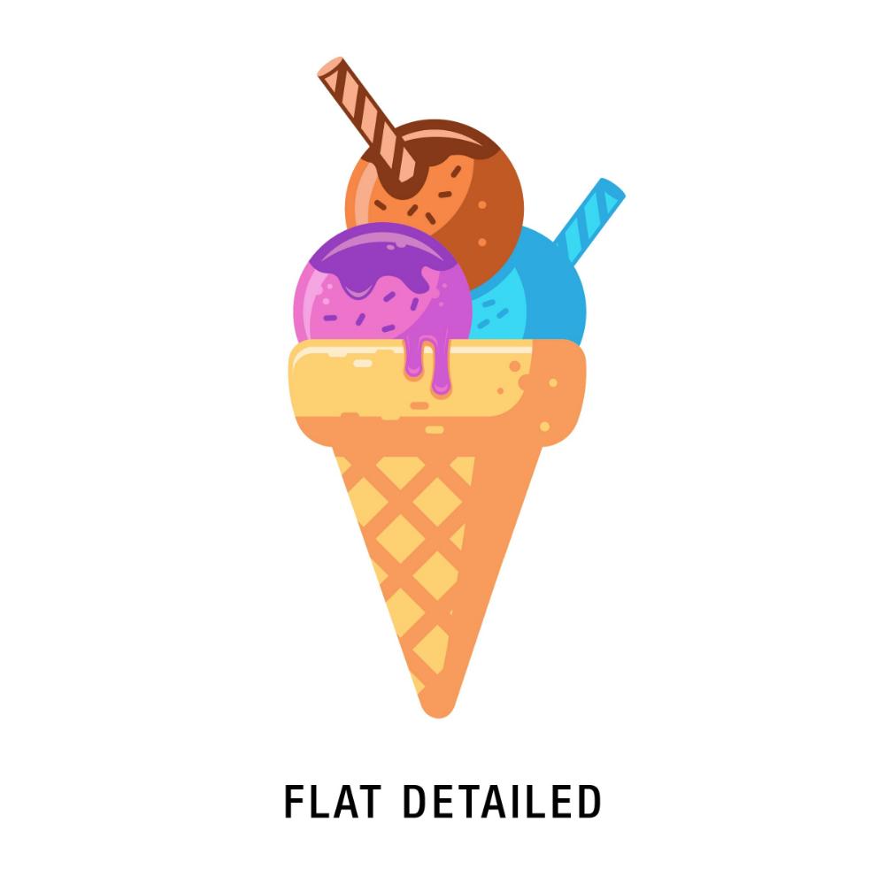 Ice Cream 6 Styles Unique Logo Design Ice Cream Design Graphic Design Illustration