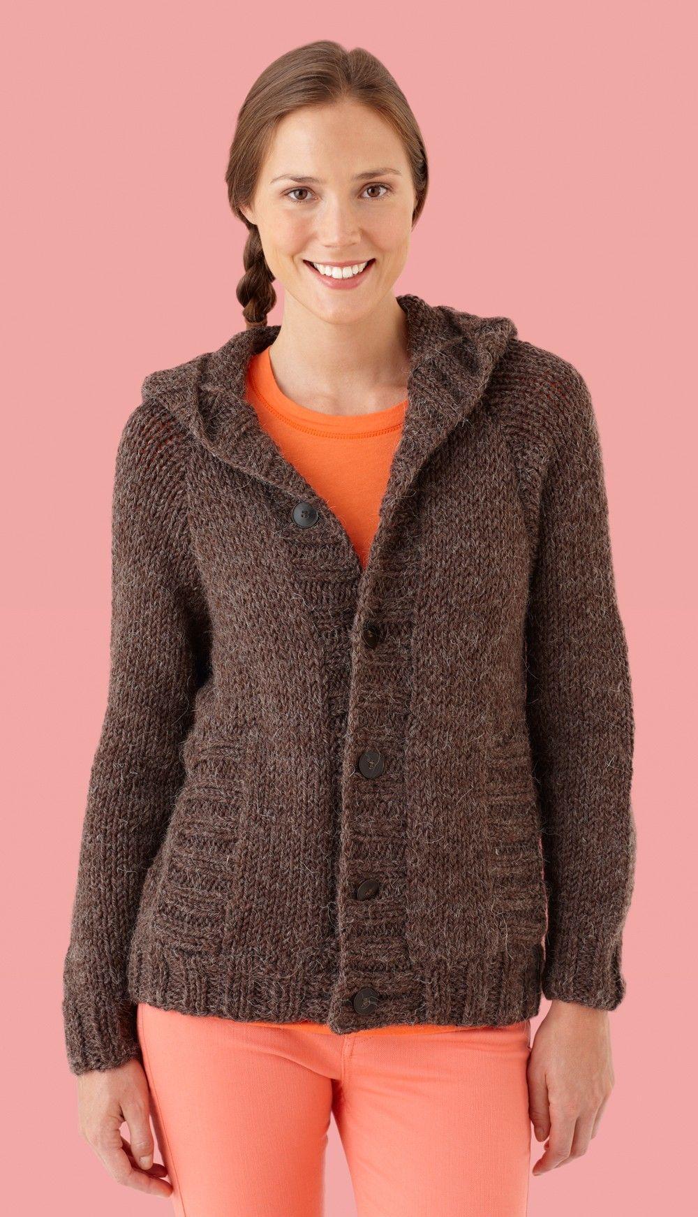 Hooded Cardigan Pattern (Knit) - Free Download | Crafting: Knitting ...
