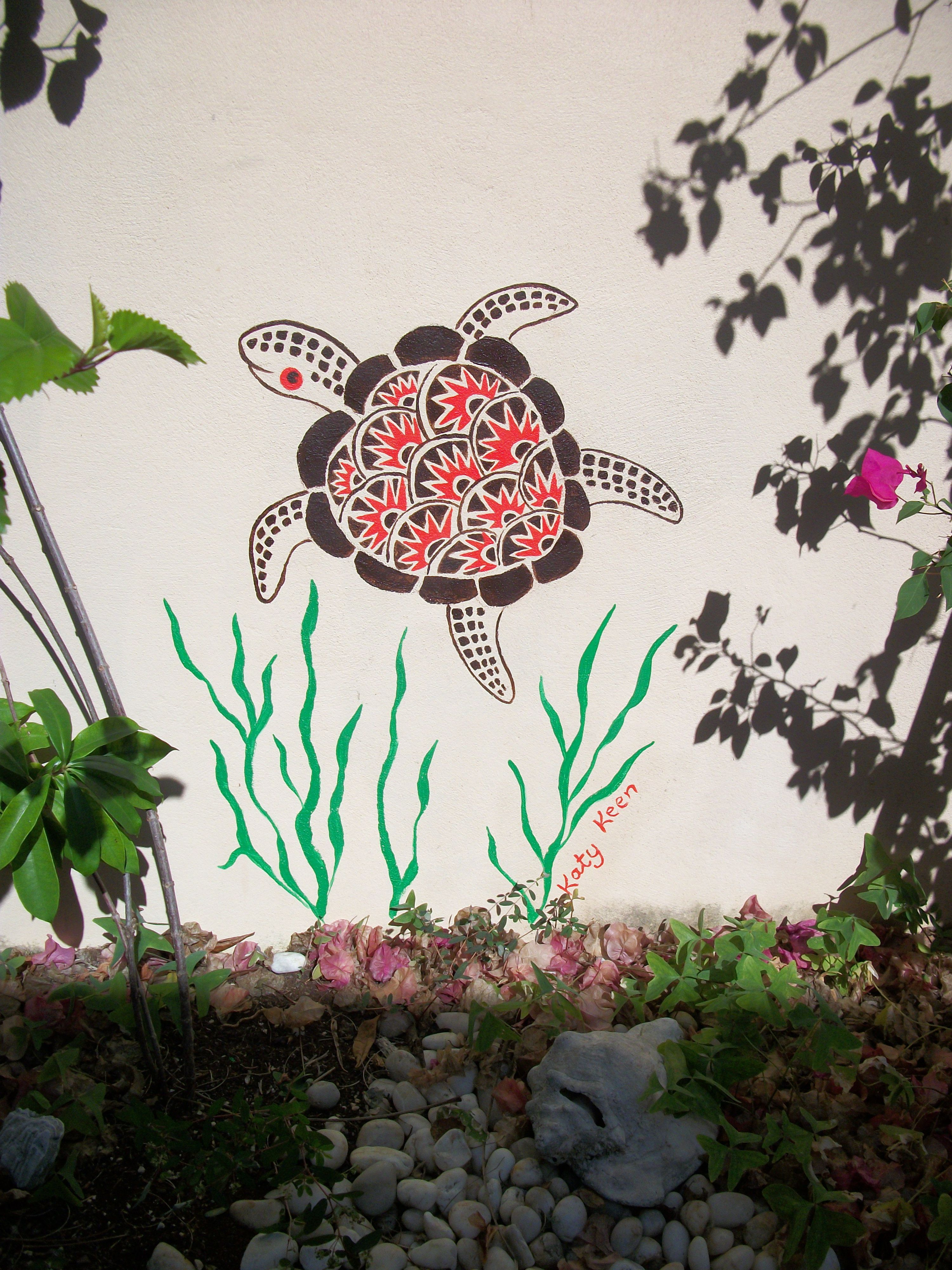 Patio wall mural