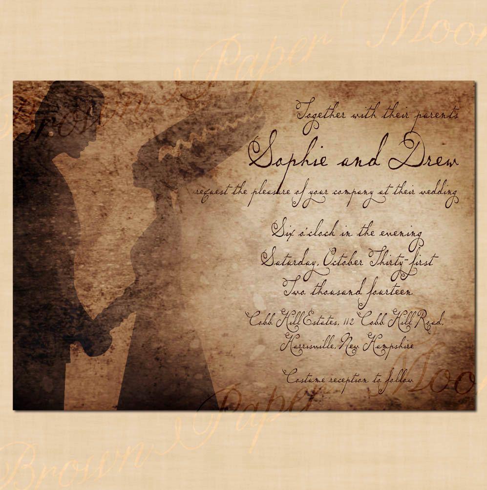 Frankenstein\'s Antique Halloween Wedding by BrownPaperMoon on Etsy ...
