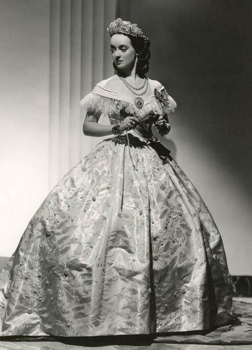 "Bette Davis in ""Juarez"" (1938). Costume design by Orry Kelly."