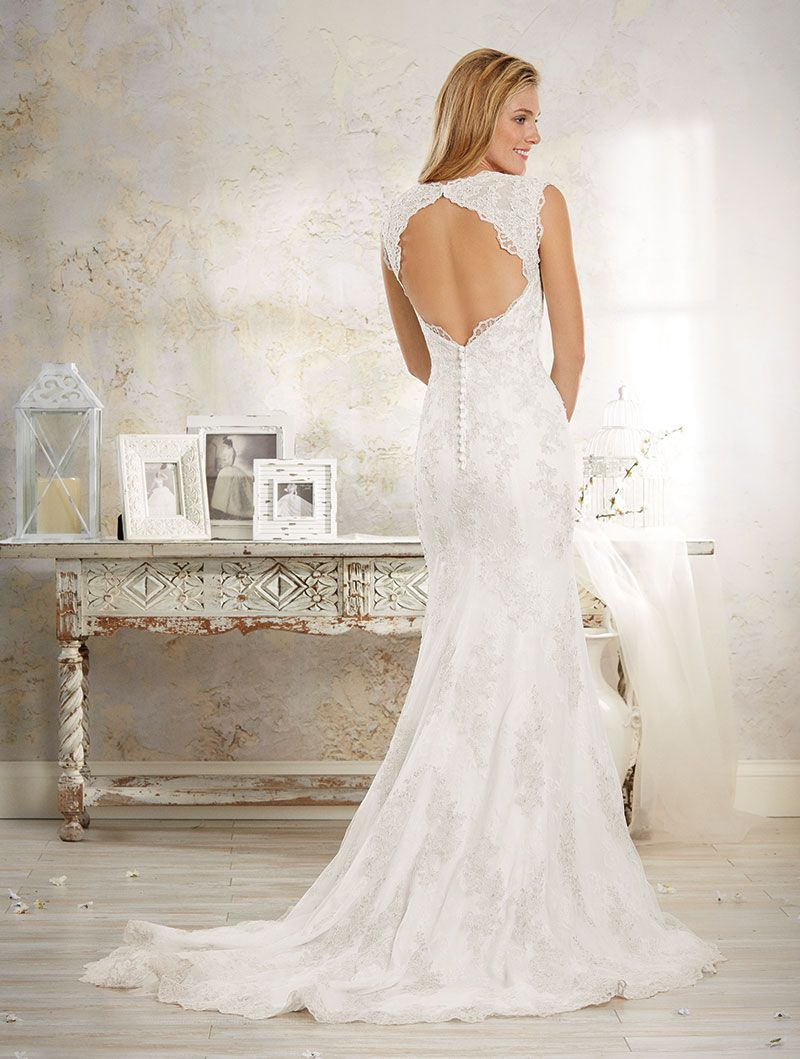 Alfred Angelo 8551 back ACS Formals, Moncton NB | Lace Wedding Gowns ...