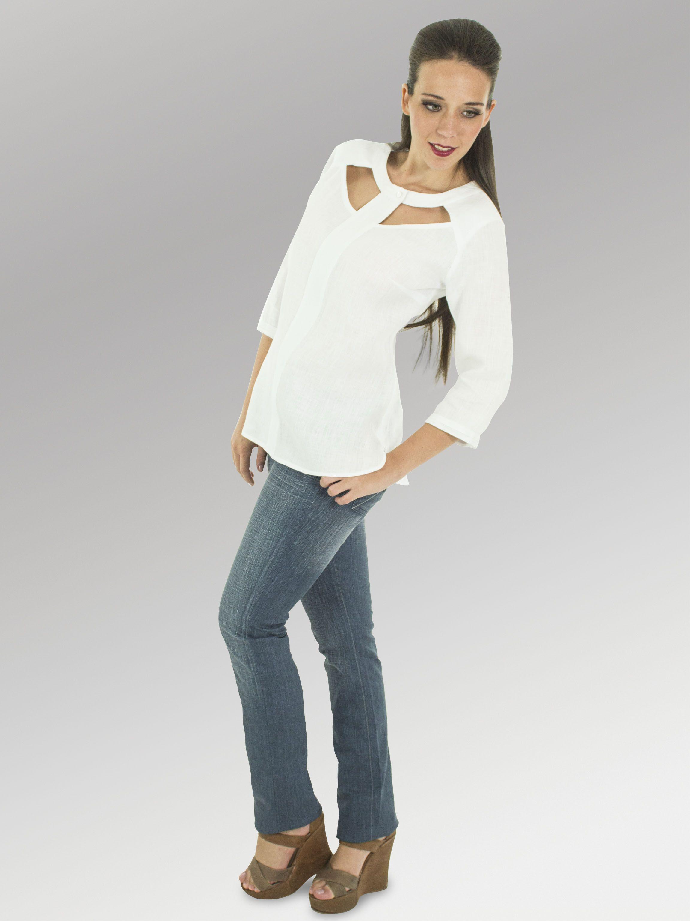 Blusa Nina #moda #lino #FW2014 www.abito.com.mx