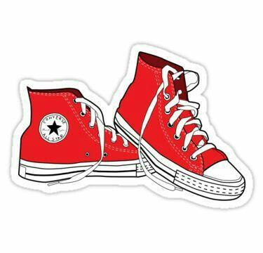 white converse chuck taylors, allstars, laptop sticker