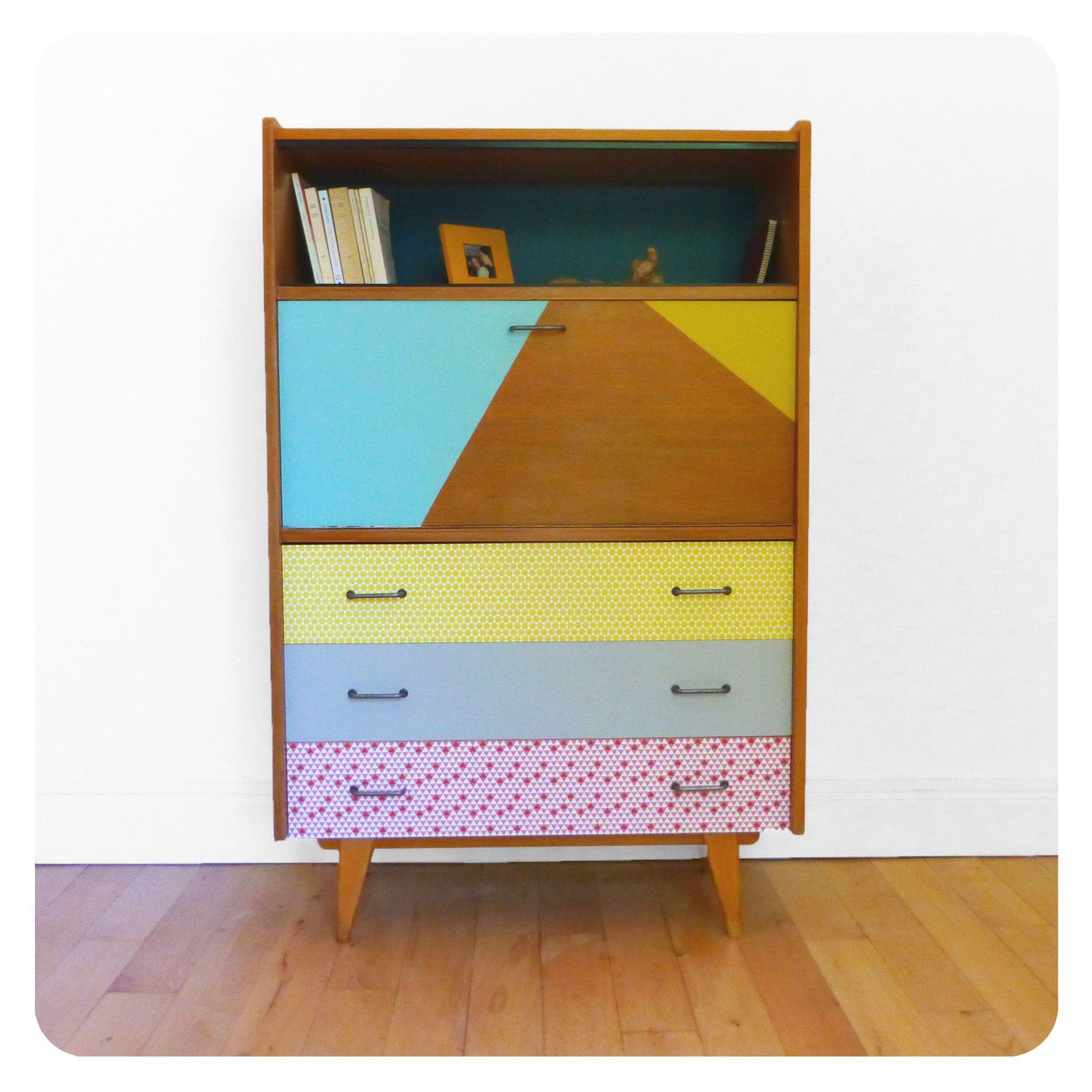 Secretaire Vintage Meuble Retro Vintage Furniture Meuble Ann Es 50  # Meuble Retro