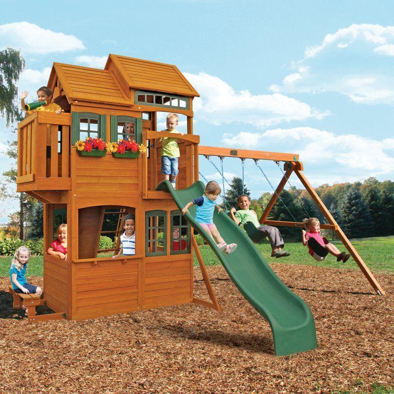 Big Backyard Somerset Lodge Swing Set - F23165 | Big ...