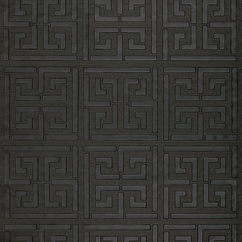5005692 Greek Key Sisal Jet Schumacher Wallpaper you can