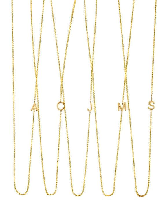 sterling silver sideways initial necklace alphabet necklace multiple letter necklace mothers day gifts