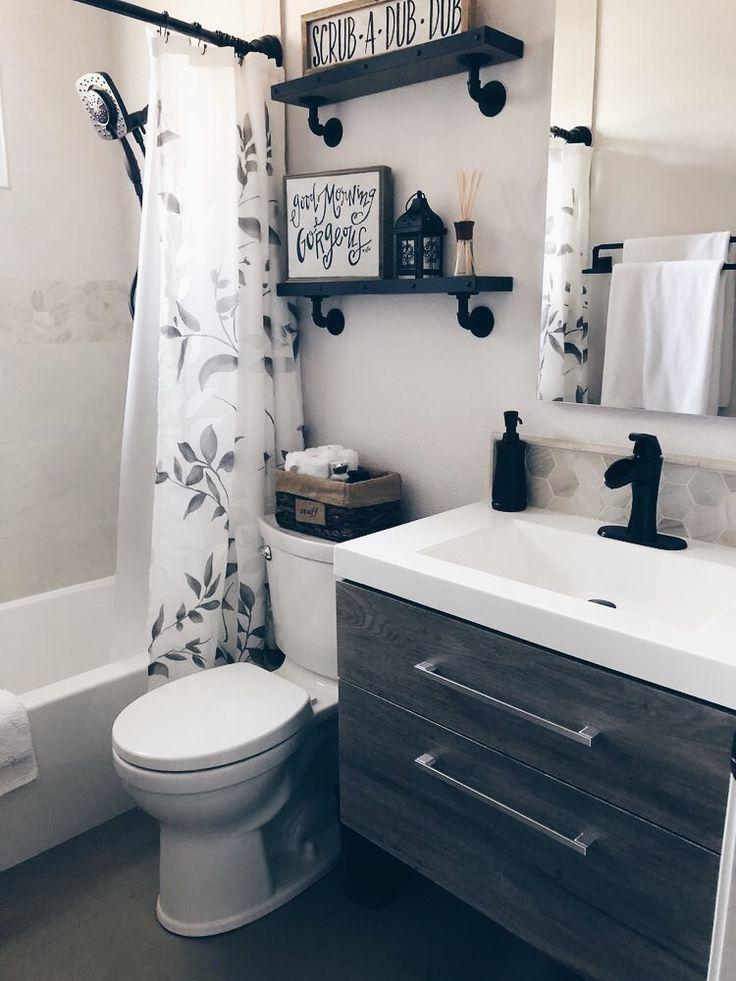 37 Modern Bathroom Vanity Ideas For Your Next Remodel In 2020 Small Bathroom Remodel Small Bathroom Decor Bathroom Design Small