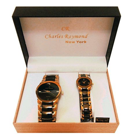 R0260D-BLK,His And Her Watch Gift Set   His and Her Watches ...