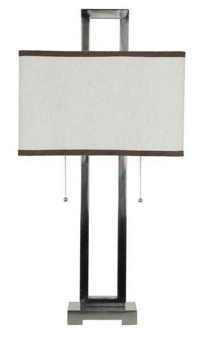 New Table Lamp Sleek Modern Design W/ Metal Infinity Brushed Nickle