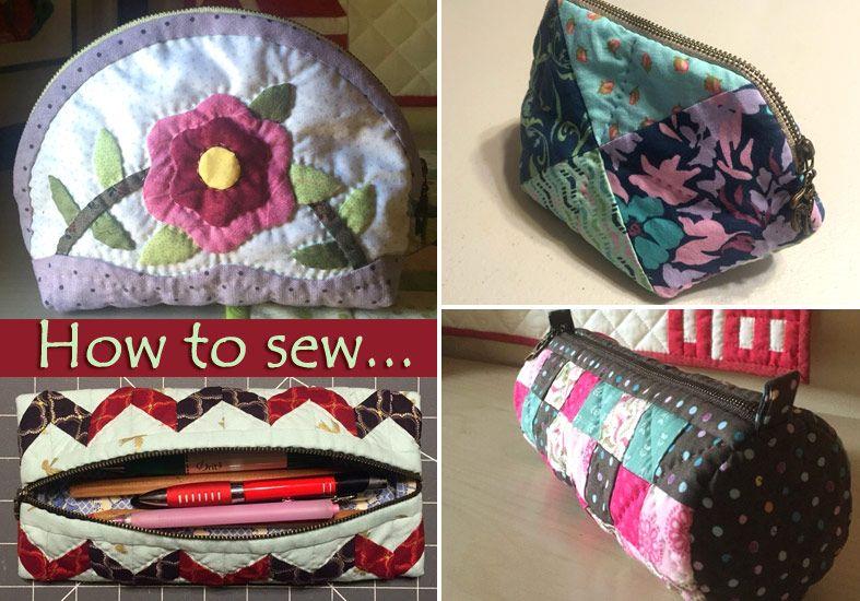 Semplici sacchetti cosmetici, borse patchwork.