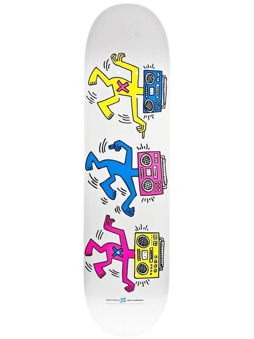 Keith Haring Rare Keith Haring Boom Box Skateboard Deck Skateboard Deck Art Painted Skateboard Skateboard Decks