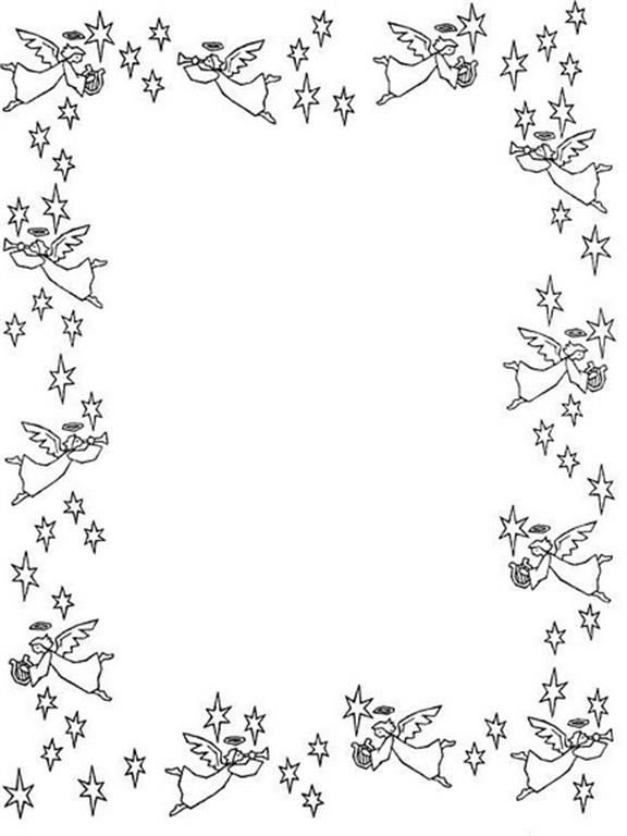 Angel Page Border Frames Borders Pinterest Angel