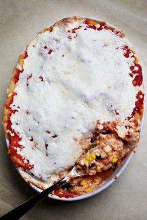 Chicken and Tortilla Aztec Casserole(Cazuela Azteca) - Make ahead and freeze.
