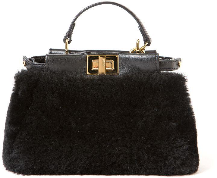 Fendi Micro Shearling Peekaboo Bag - $1,365.00