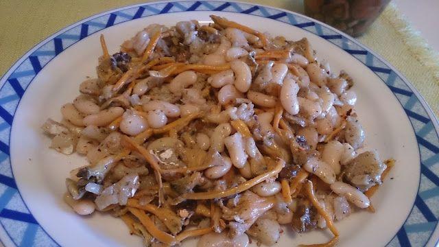 Cocinar Facil Y Sano   Facil Y Sano Bacalao Con Judias Y Setas Rebozuelo Recetas Para
