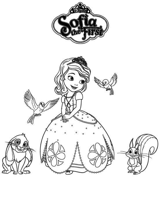 Princess Sofia~Disney | Imágenes para colorear | Pinterest | Dibujos ...