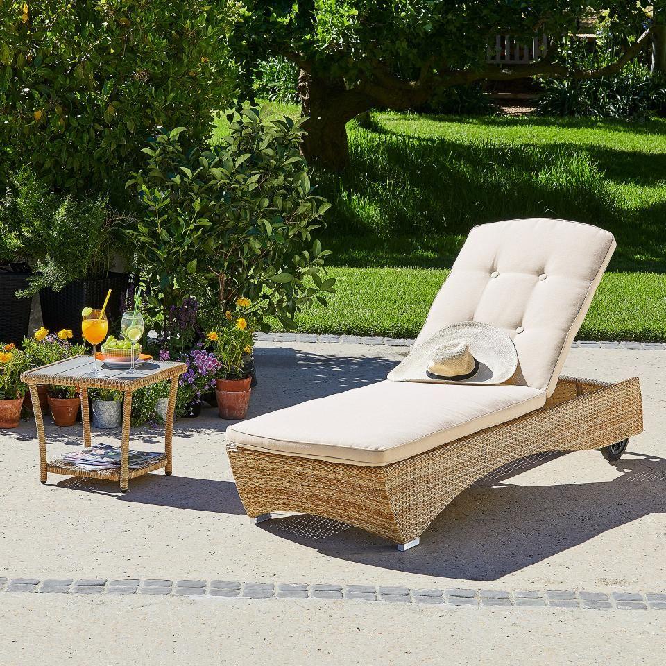 Gartenmobel Set Colombo 1 Sonnenliege 1 Tisch Mit Auflage Danisches Bettenlager Sonnenliege Gartenmobel Lounge Mobel