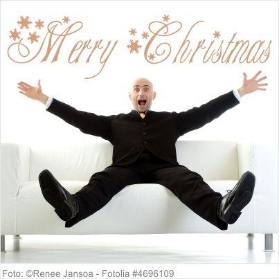 Wandtattoo Weihnachten - Merry Christmas mit Schneeflocken
