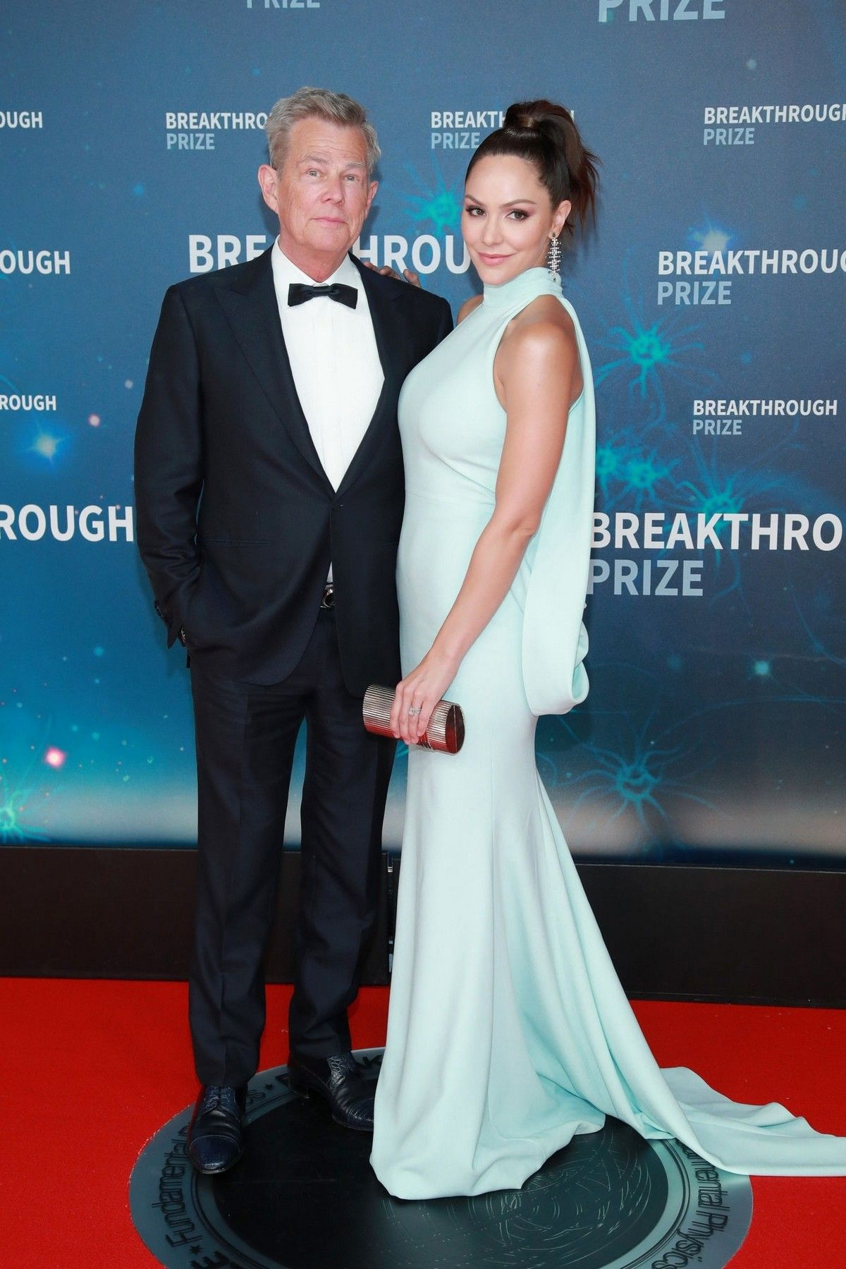 Katharine Mcphee And David Foster Attends 8th Annual Breakthrough Prize Ceremony In Mountain The Fosters Hollywood Celebrities Celebs