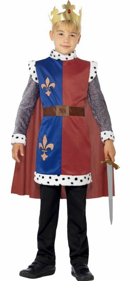 Mens Kings Knight Medieval Historical Stag Do Fancy Dress Costume Outfit M-XL