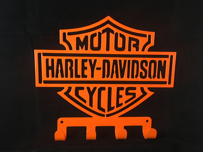 HARLEY DAVIDSON Key Towel Coat Rack Cnc Plasma Cut Powder - Car sign with nameswholesale no drill led car logo with names laser lights with car