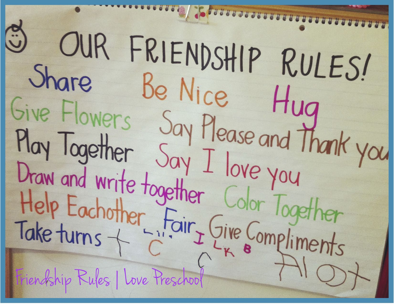 Setting Up Rules In A Preschool Classroom Friendship
