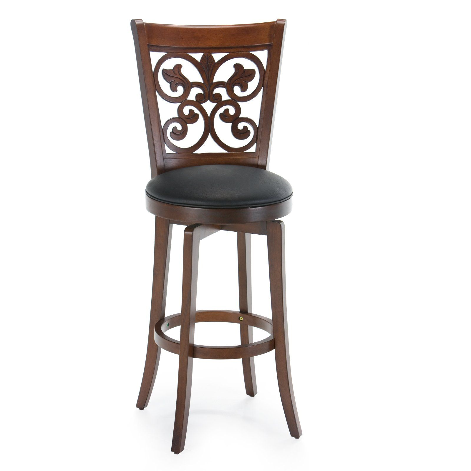 Hillsdale 30 Inch Bonaire Swivel Bar Stool Brown Cherry Bar