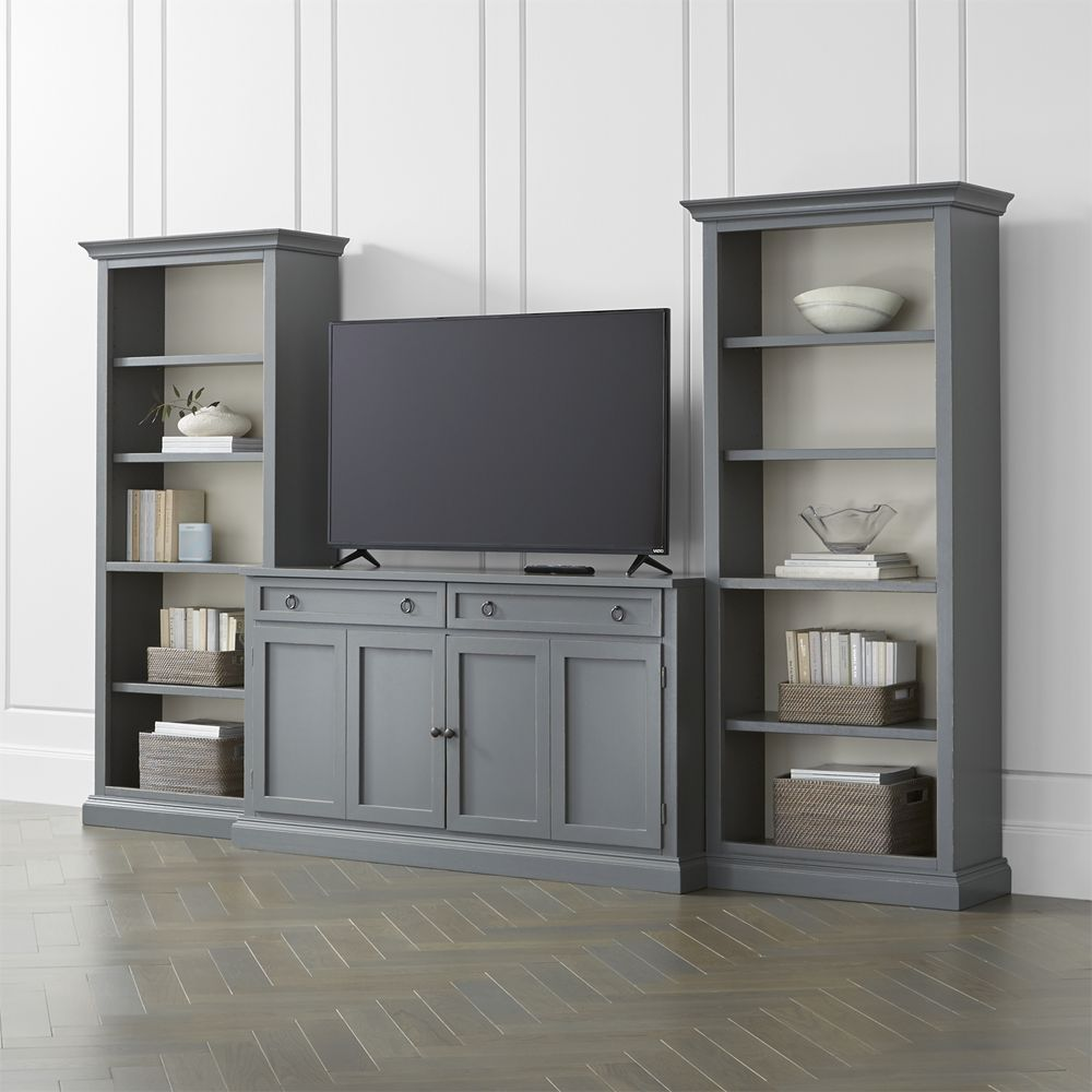 Furniture Cameo Grey Modular Storage And Media Pieces