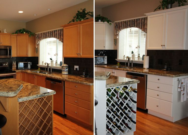 Beautiful Kitchen Refinishing done in our post catalyzed ...