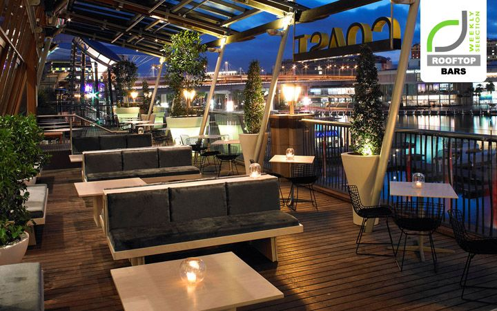 Rooftop bars roof top bar at coast sydney retail design for Terrace restaurant bar
