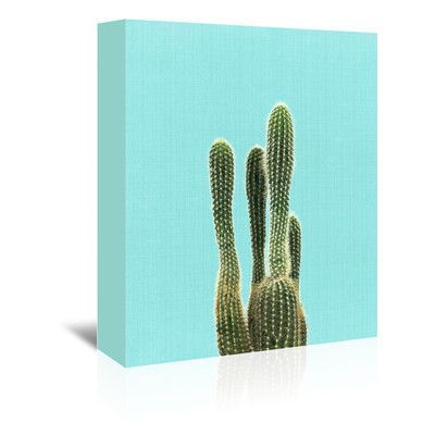Americanflat Cactus by LILA + LOLA Photographic Print on Wrapped Canvas Size: