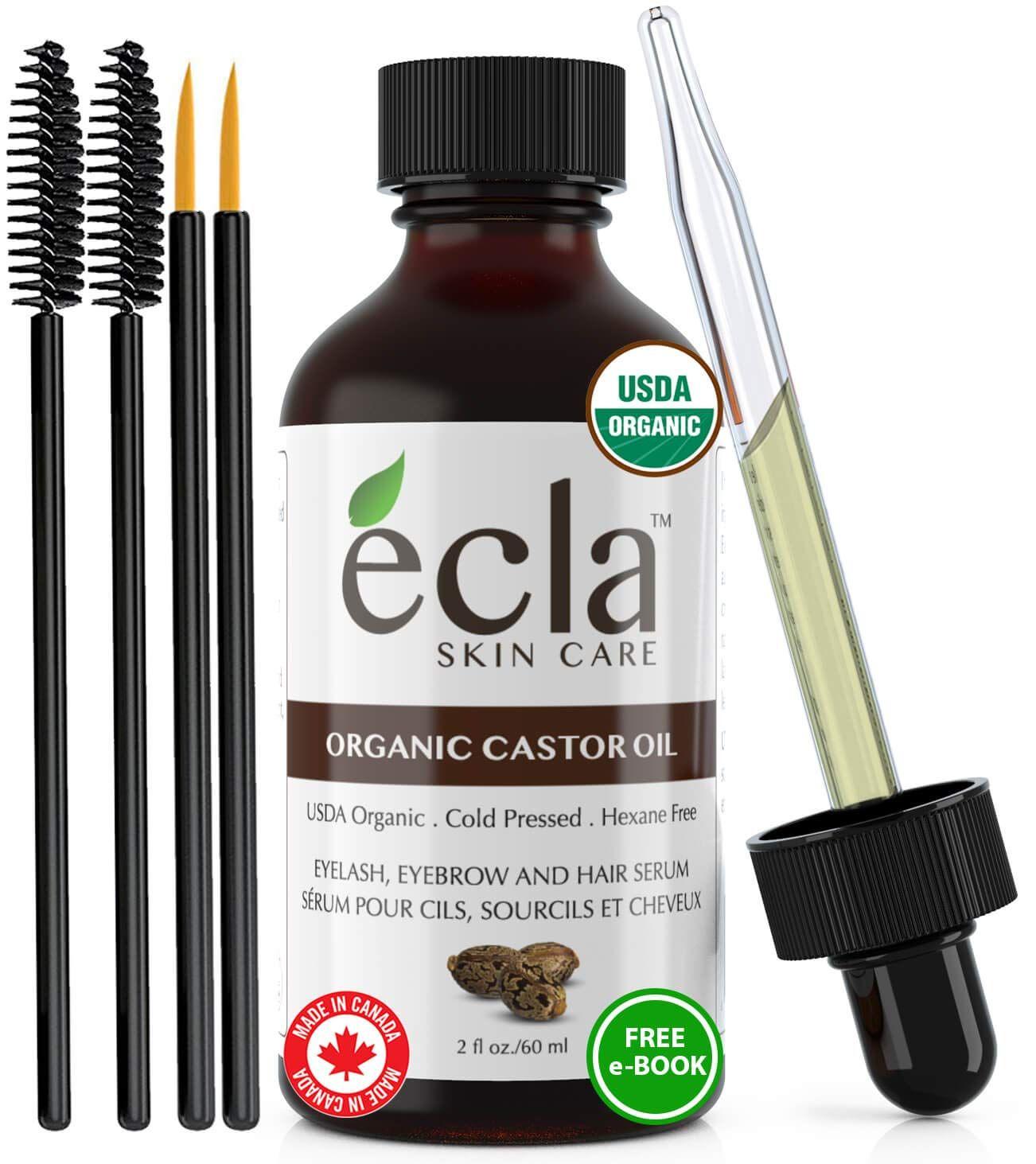 Castor Oil Organic Cold Pressed Eyelash Eyebrow Hair