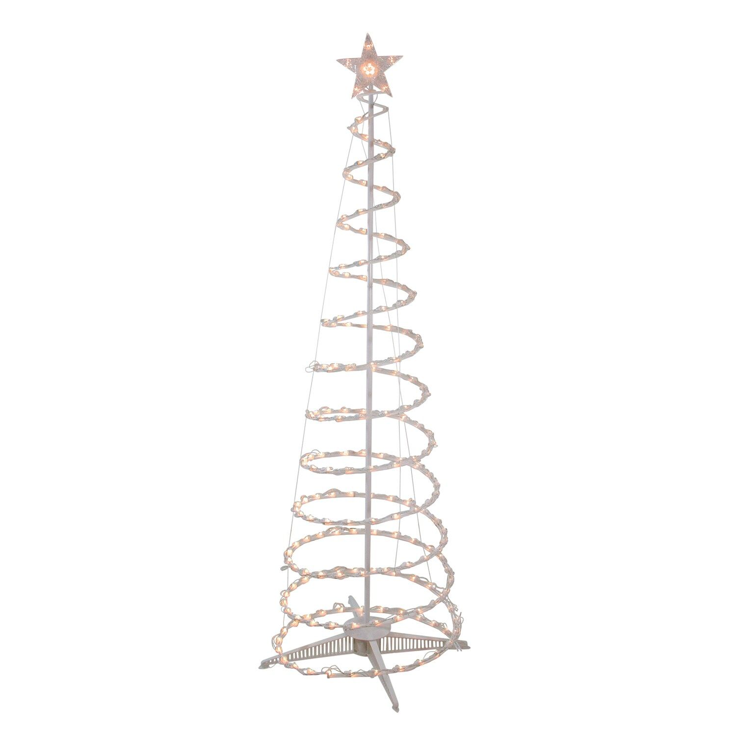 Northlight Clear Lighted Outdoor Spiral Cone Christmas Tree In 2020 Cone Christmas Trees Outdoor Christmas Outdoor Christmas Decorations
