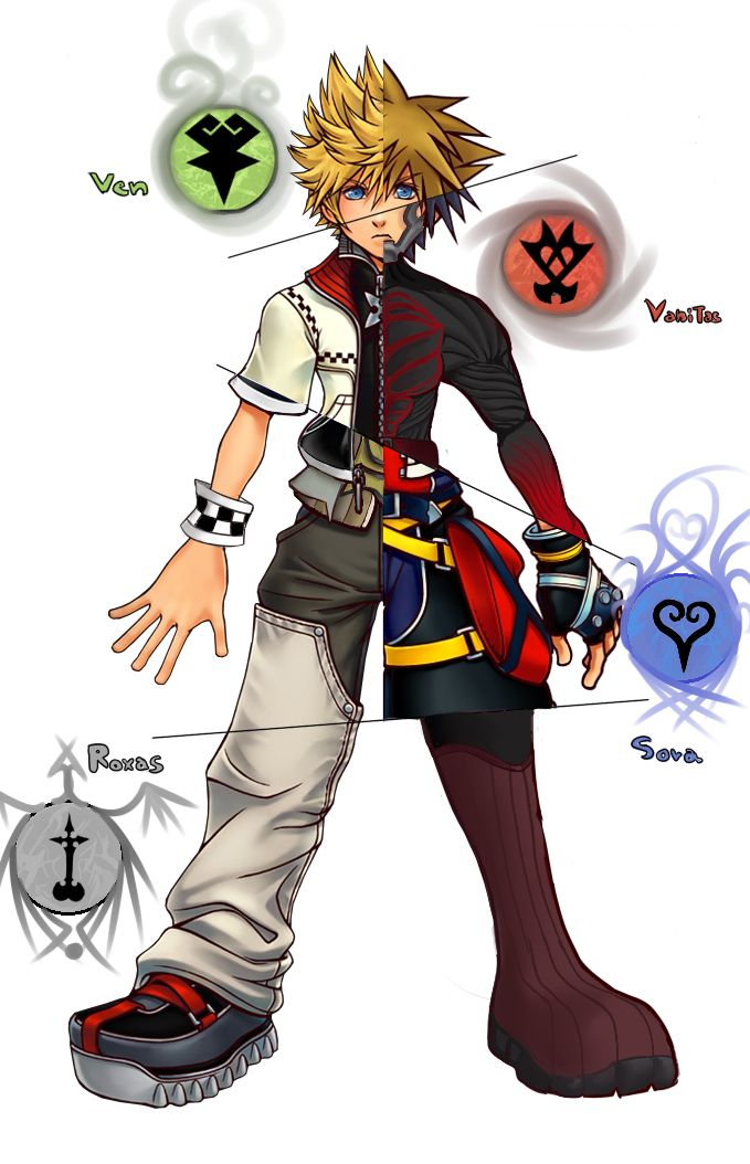 ventus vanitas sora and roxas in case you are confused