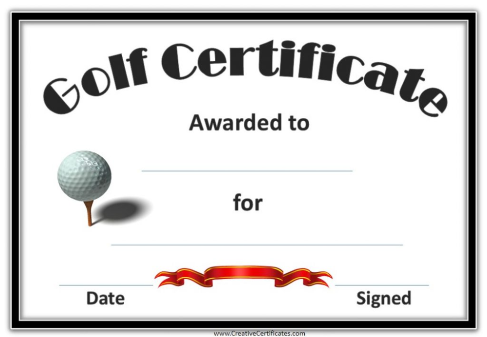 Golf Gift Certificate Template 9 Best Templates Ideas For You Best Templates Ideas For You
