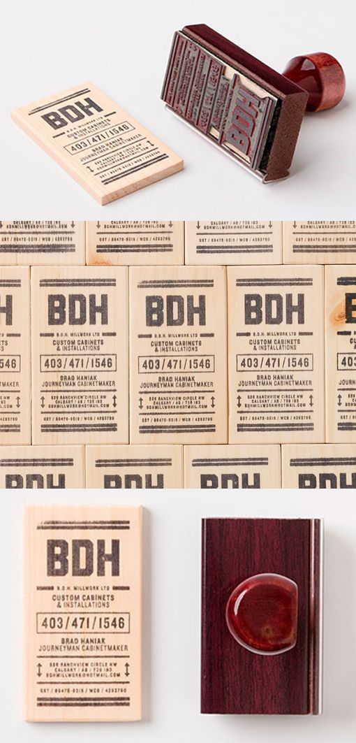 DIY Hand Stamped Wooden Business Cards On A Budget | Business Card ...