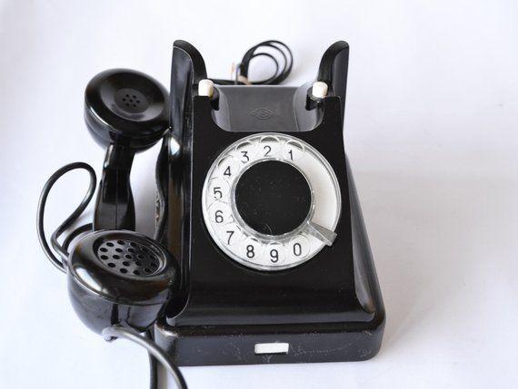Vintage Telephone, Antique Landline Phone, Soviet Russian