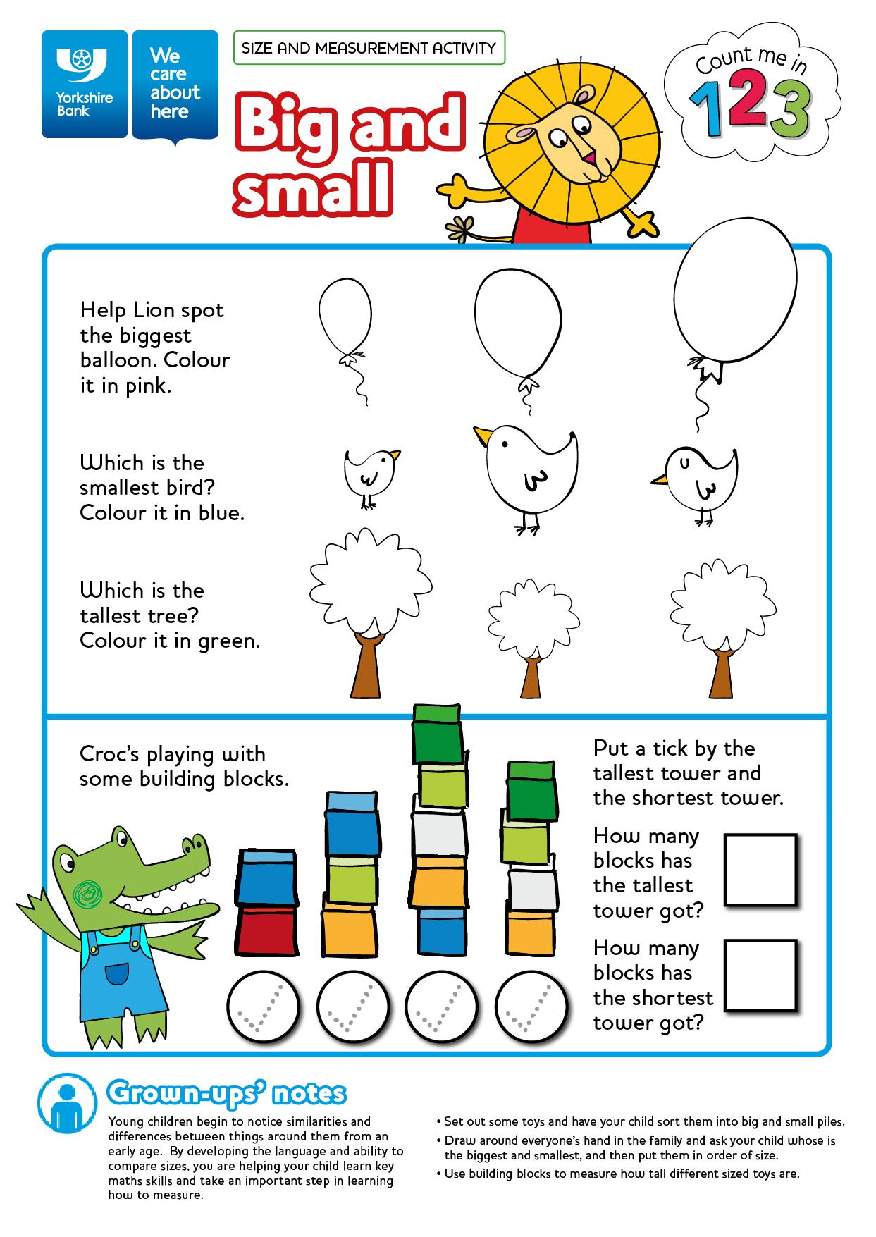 Free numeracy worksheet printable