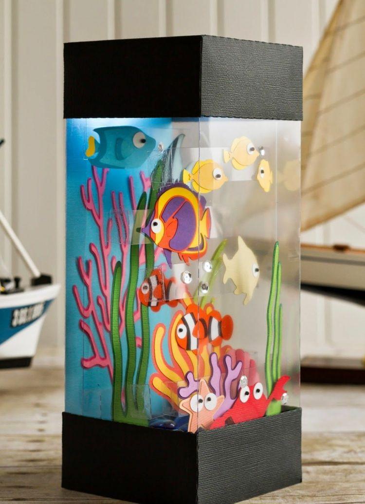 Fische Basteln Mit Kindern Kreative Ideen Anleitungen Und Vorlagen Origami Falten Papier Mobile Bastelideen Diy Fische Basteln Kreativ Kreative Ideen
