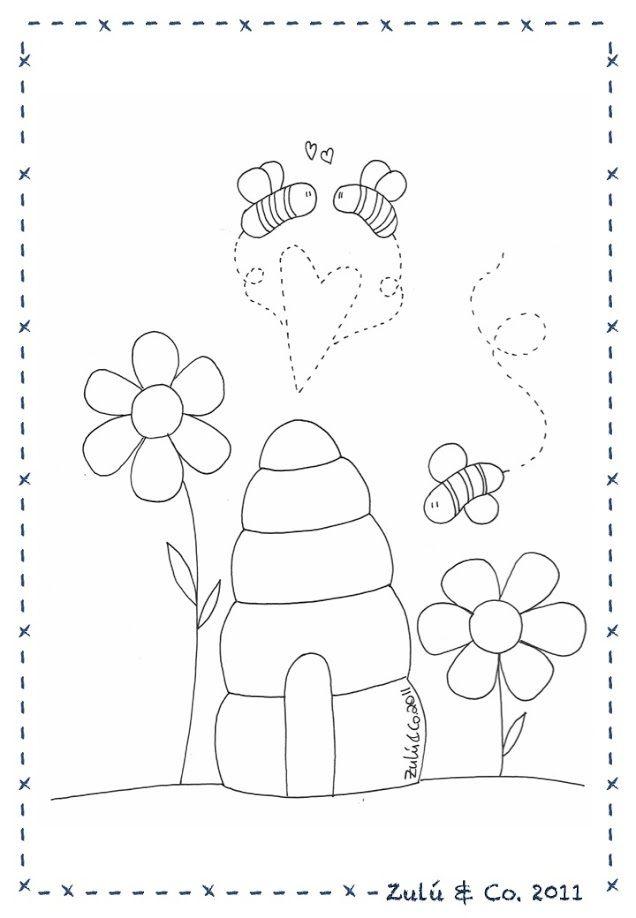 Pañal y abejas | Muñecas, peluches, patrones | Pinterest | Bordado ...