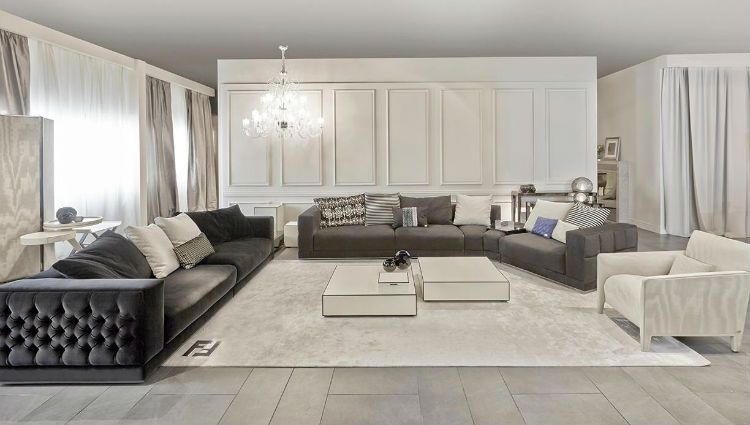 Fendi Plaza Sofa (sectional?) | Chapel Street 1st Floor | Pinterest |  Showroom And Modern