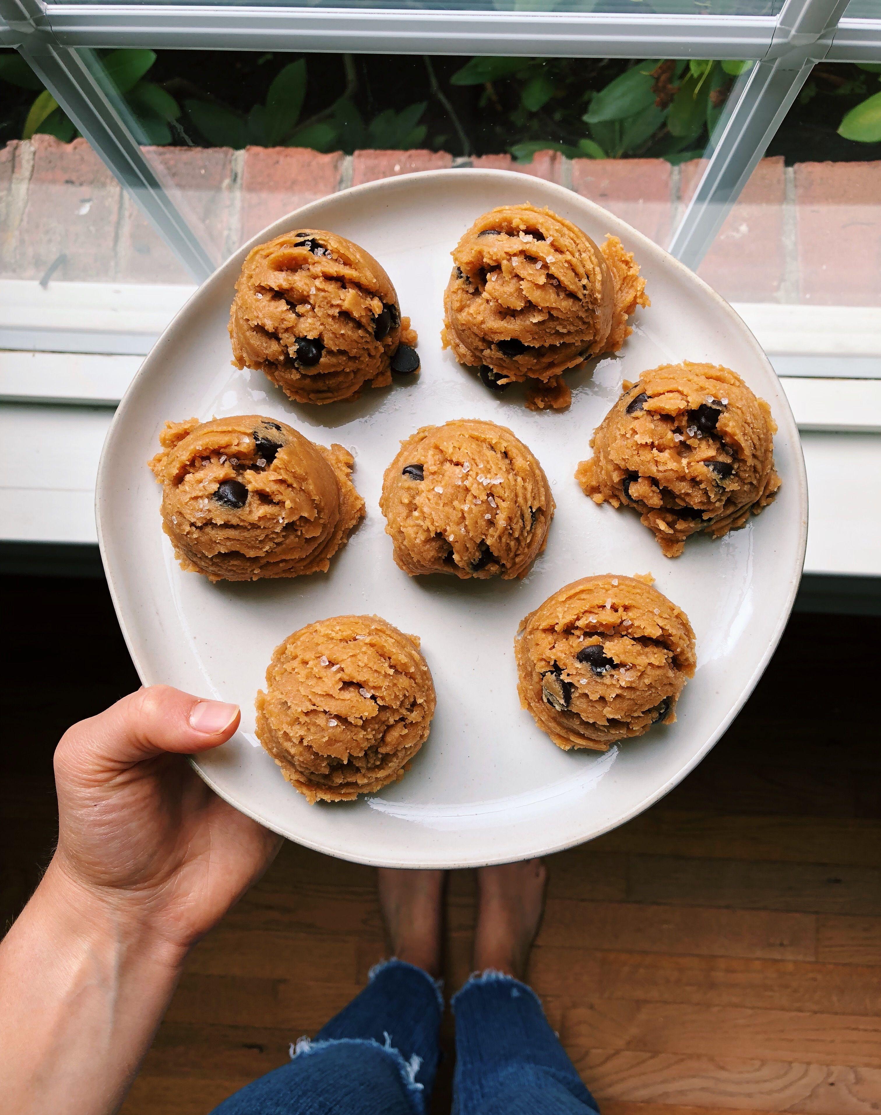 Chocolate Chip Cookie Dough Balls   Healthy dessert ...