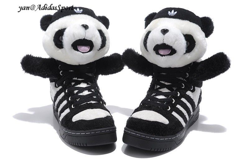 Adidas Originals x Jeremy Scott Panda Bjørn zapatillas tipo Hvid hot