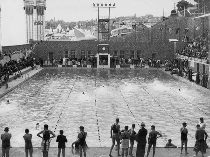 The Opening Of North Sydney Olympic Pool In 1936 Australia History New South Wales Sydney Harbour Bridge