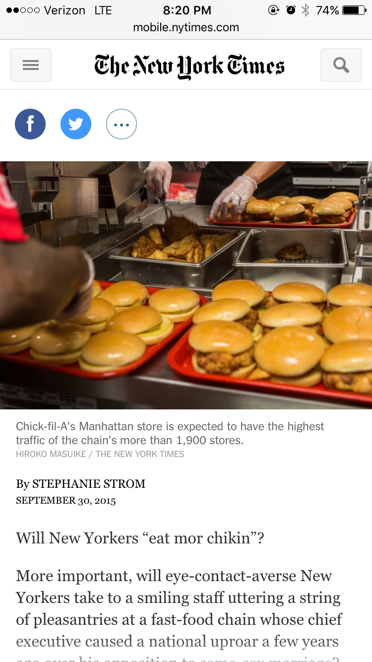 Pin by Wil Barman on Wrd Week 4 Eat mor chikin, Ny times