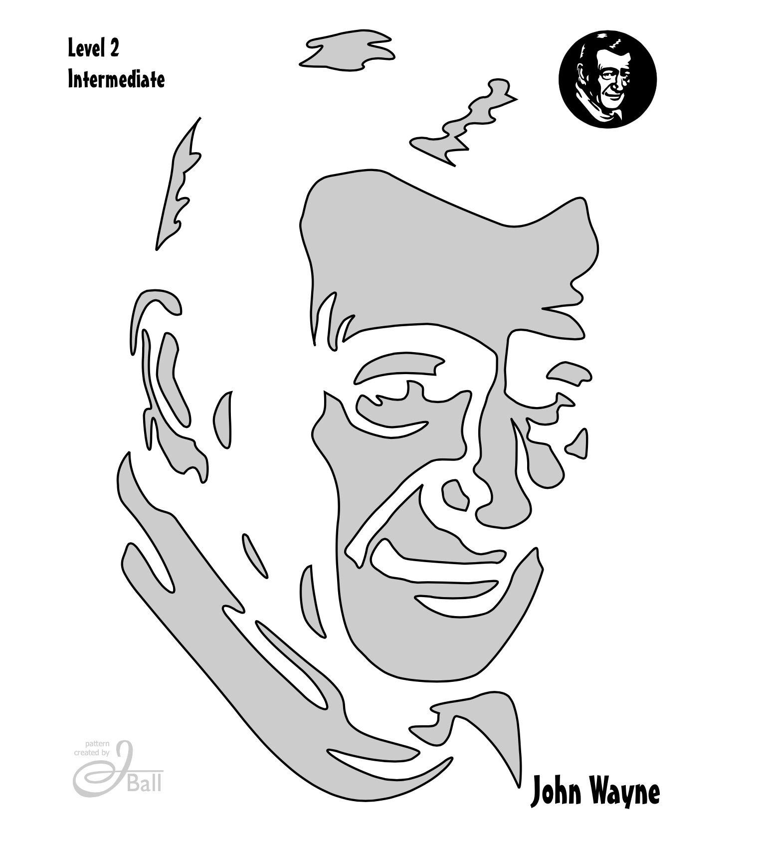 John Wayne Stencil