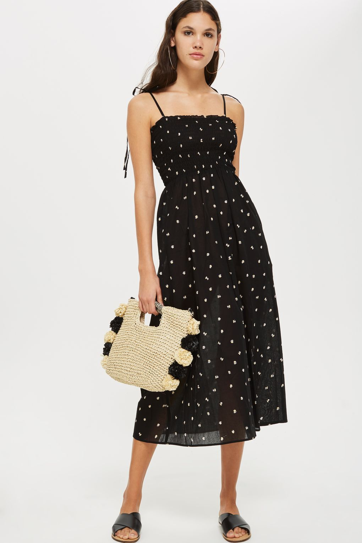 d4821e14050a Ditsy Shirred Maxi Dress - Topshop USA
