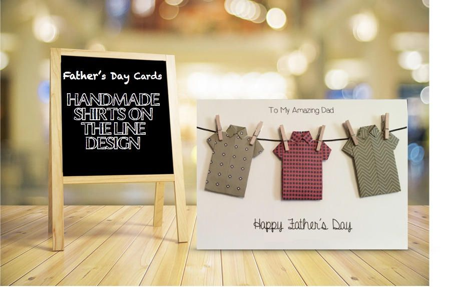 2c72f8df Father's Day Card   Birthday Card   Origami Shirts Card   Origami Father's  Day Card   Origami Birthday Card   Personalised Custom Cards by  EverCraftingLove ...